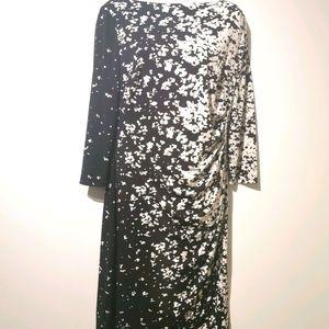 Ralph Lauren s12 black and white boatneck dress